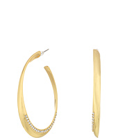 GUESS - Oval Hoop Earrings w/ Pave Accent