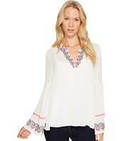 CATHERINE Catherine Malandrino - Spilt Next Embroidered Dropped Bell Sleeve Top