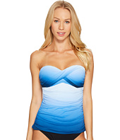 Bleu Rod Beattie - Hole Ombrè Twist Bandeau Tankini