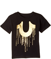 True Religion Kids - Gold Drip Tee Shirt (Toddler/Little Kids)