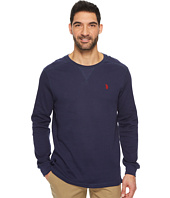 U.S. POLO ASSN. - Classic Fit Solid Long Sleeve Crew Neck Shirt