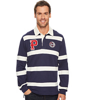 U.S. POLO ASSN. - Classic Fit Long Sleeve Color Block Pique Polo