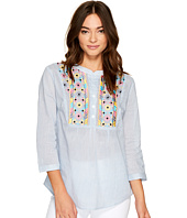 ROMEO & JULIET COUTURE - Multicolor Embroidered Neck Top