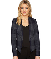 Tahari by ASL - Plaid Open Front Jacket
