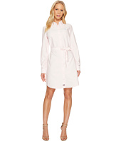 U.S. POLO ASSN. - Long Sleeve Oxford Shirtdress with Self Belt
