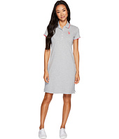 U.S. POLO ASSN. - Stretch Pique Color Tippedl Logo Polo Dress