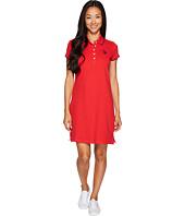 U.S. POLO ASSN. - Stretch Pique Color Tippedl Logo Polo Dress