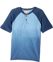 Lucky Brand Kids - Short Sleeve Henley Dip-Dyed (Big Kids)