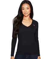 U.S. POLO ASSN. - Rib V-Neck T-Shirt