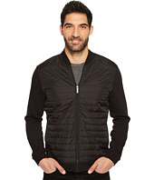 Perry Ellis - Quilted Mix Media Full Zip Jacket