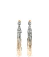 Oscar de la Renta - Long Ombre Beaded Tassel C Earrings