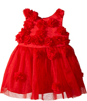 Nanette Lepore Kids - Matte Satin with 3D Flowers and Embellishment Dress (Infant)