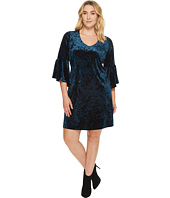 Karen Kane Plus - Plus Size Velvet Bell Sleeve Dress