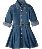 Polo Ralph Lauren Kids - Denim Fit-and-Flare Shirtdress (Toddler)