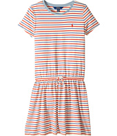 Polo Ralph Lauren Kids - Striped Jersey Tee Dress (Little Kids/Big Kids)