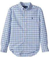 Polo Ralph Lauren Kids - Checked Cotton Oxford Shirt (Big Kids)