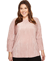 Vince Camuto Specialty Size - Plus Size Pleated Knit Bell Sleeve Blouse