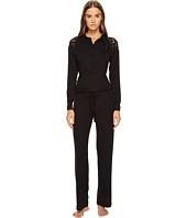 ELSE - Chevron Cashmere Blend Polo Collar Jumpsuit