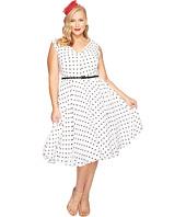 Unique Vintage - Plus Size Sleeveless Doris Swing Dress