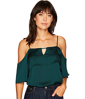 1.STATE - Cold Shoulder Blouse w/ Layered Ruffles