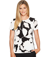 Ivanka Trump - Knit Printed Button Snap Shirt