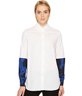 FUZZI - Patchwork Poplin Blouse Cover-Up