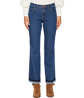 See by Chloe - Denim Scalloped Trim Jeans