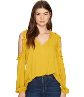 Jack by BB Dakota - Ann Crinkle Rayon Cold-Shoulder Top