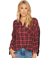 Jack by BB Dakota - Emiley Plaid Printed Crepe de Chine Top