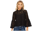 Miley Floral Lace Bell Sleeve Top