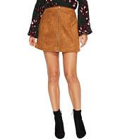 Jack by BB Dakota - Jenina Faux Suede Zip Front Skirt