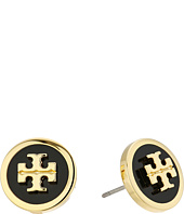 Tory Burch - Lacquered Raised Logo Stud Earrings