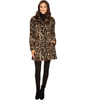 Ellen Tracy - Leopard Print Asymmetrical Coat