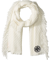 Tory Burch - Textured Jacquard Oblong Scarf with Fringe