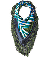 Tory Burch - Diamond Plaid Square Fringe Scarf