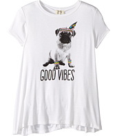 People's Project LA Kids - Good Vibes Pup Knit Tee (Big Kids)
