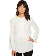 Ellen Tracy - Ruffle Tie Neck Blouse
