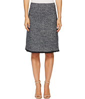 Ellen Tracy - Tweed A-Line Skirt with Fringe Trim