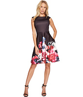 Taylor - Roll Collar Scuba Fit and Flare
