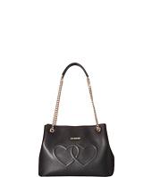 LOVE Moschino - Embossed Heart Shoulder Bag