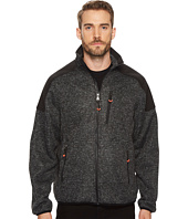 IZOD - Heathered Zip Front Sweater Fleece Jacket
