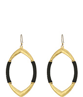 Lucky Brand - Leather Wrapped Hoop Earrings