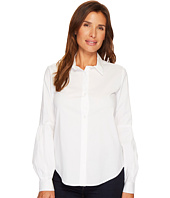 Calvin Klein - Half Pleat Button Front Blouse