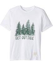 The Original Retro Brand Kids - Get Outside Short Sleeve Vintage Cotton Tee (Big Kids)