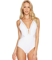 JETS by Jessika Allen - Parallels Plunged One-Piece Swimsuit