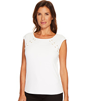 Calvin Klein - Sleeveless Top with Lacing