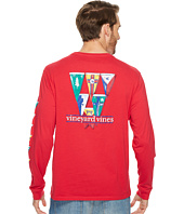 Vineyard Vines - Long Sleeve Coastal Burgees Pocket Tee
