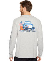 Vineyard Vines - Long Sleeve Americana Gameday Pocket Tee