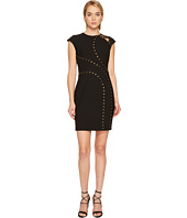 Versace Collection - Studded Cap Sleeve Slit Dress