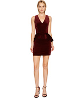 Pierre Balmain - Velvet Peplum Mini Dress